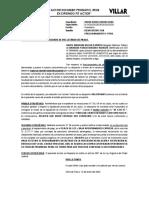 Escrito para Rechazar Pedido de Fraccionamiento - ALIMENTOS