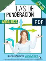Tablas de ponderación Andalucia 2019