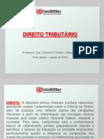 Aula Uniritter - Direito Tributário - aula I