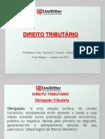 Aula Uniritter - Direito Tributário - aula VI