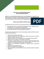 Neteller PEP Self - Declaration Form