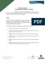 Glosario de Coneptos Entrenamiento Modelo de Negocio  Lean Startup