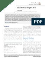 Pilot study methodology