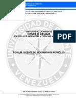 2016. PENSUM DE PETRÓLEO 1.999. VIGENTE