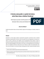 A técnica como poder e o poder da técnica - entre Hans Jonas e Andrew Feenberg.pdf