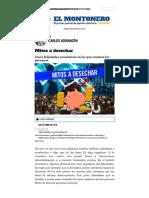 Mitos a desechar _ Carlos Adrianzén