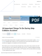 10 Important Things To Do During Ship Collision Accident