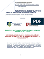 curso PIPs PRODUCTIVOS Huancavelica U Agro 2019