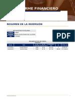 Formato de Reporte Financiero - Fondos de Inversión