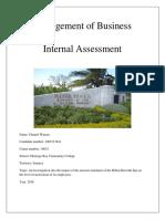 MOB Internal Assessment