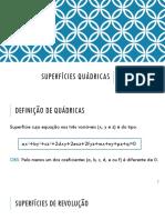 Quadricas - elipsoide, hiperboloide e paraboloide
