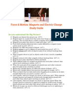 force   motion  magnets and electric charge study guide