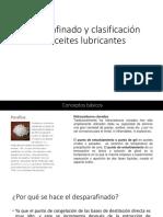 Desparafinado y clasificación de aceites lubricantes [Autoguardado]
