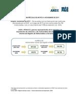 INFORME DE MATRÍCULAS DE MOTOS A NOVIEMBRE DE 2019