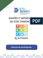 MANUAL - DISEÑO E IMPRESIÓN 3D CON TINKERCAD v9.0