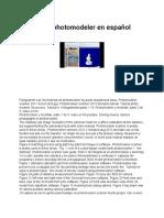 Manual de photomodeler en español
