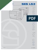 Eschmann SES Little Sister 3 Autoclave - User manual