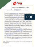 Bolivia_ Decreto Supremo Nº 2797, 8 de junio de 2016