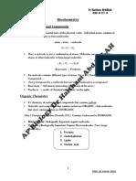AP Biology Biochemistry