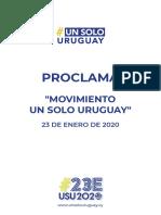 Proclama Un Solo Uruguay