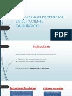 HIDRATACION PARENTERAL EN EL PACIENTE QUIRURGICO