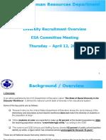 1_ESA Committee Meeting _ April 12 2018 _Recruitment-Diversity Update