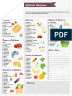 Lista de Compras domésticas - Planilha
