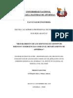 Informe de Practicas Pre Profesionales de Ingeniería Civil - UNAMBA - Wilmer Tuñoque Zela