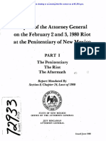 Attorney General report on NM prison riot - Part 1