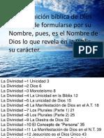 Doctrina Divinidad