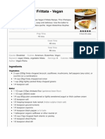 Chickpea Flour Frittata - Eggless Vegan Frittata - Vegan Richa