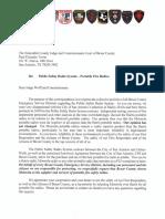 A letter regarding portable fire safety radios