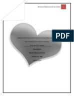 Relational Dimensions and Love Styles Among College Students