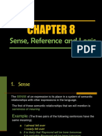 Day 12 - Chapter 8 Sense and Reference