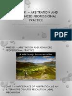UNIT 1 - IMPORTANCE OF ARBITRATION AS ADR MECHANISM.pdf