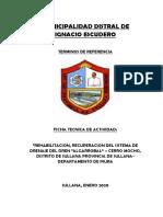 FICHA TECNICA DE MANTENIMIENTO DE CEMENTERIO MUNICIPAL