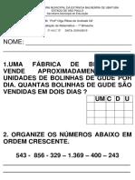 Av de Matemátca 1º B 2019 -