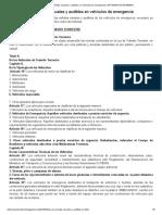 USO DE SEÑALES VISIBLES Y AUDIBLES EN VEHICULOS DE EMERGENCIA.