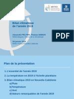 Bilan climatique provisoire 2019