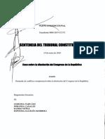 Sentencia del Tribunal Constitucional sobre Caso Disolución del Congreso de la República