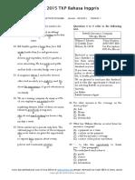 Soal UN SMK TKP 2015 - Bahasa Inggris