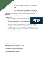 Planeación Estructural y Funcional del Depto. De Psicología.
