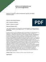Impacto del arsénico en el ambiente y su transformación por microorganismos