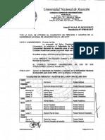 Resolución Nº 0709-00-2017 Calendario de Asuetos y Feriados UNA 2018