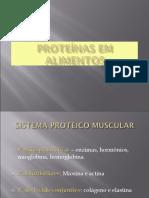Aula Proteínas em Alimentos