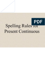 Spelling Rules for Ing