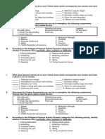 PE summative test