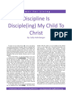 DisciplineisDisciple(ing)MyChildtoChrist