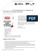 Electrical Method Of Statement For Installation & Termination of Cables and Wires – Method Statement HQ