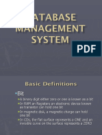 Database Management (DBMS)